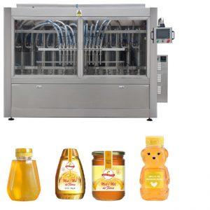 Automaattinen servomännän tyyppinen kastike Hunajahillo korkean viskositeetin omaava nestemäyttöinen korkki-merkinnän konelinja